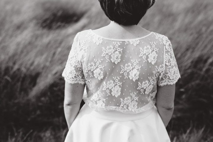 Robe de mariée dentelle et fluide - Aurélie 1