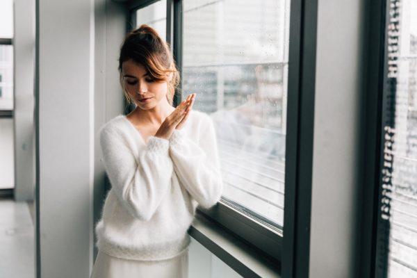 Pull angora de mariée - créatrice robe de mariée d'hiver