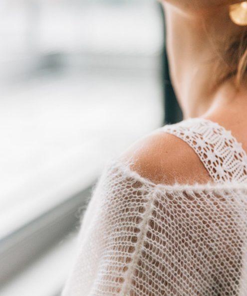 Robe de mariée d'hiver sur mesure paris