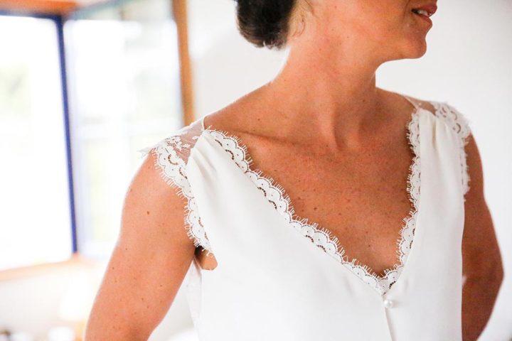 Petit créateur parisien robe de mariée - Marion