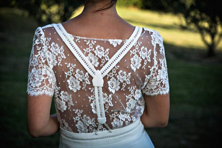 Robe de mariée dentelle et fluide - Tania1