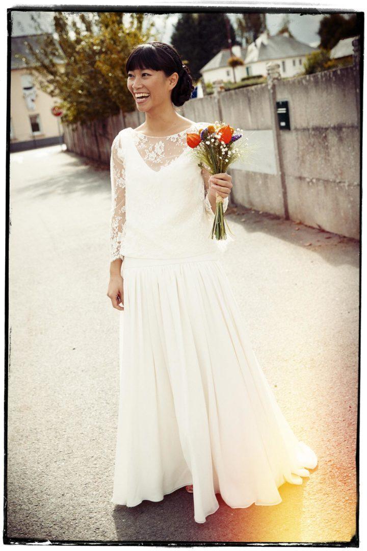 Robe de mariée créatrice - Dao2