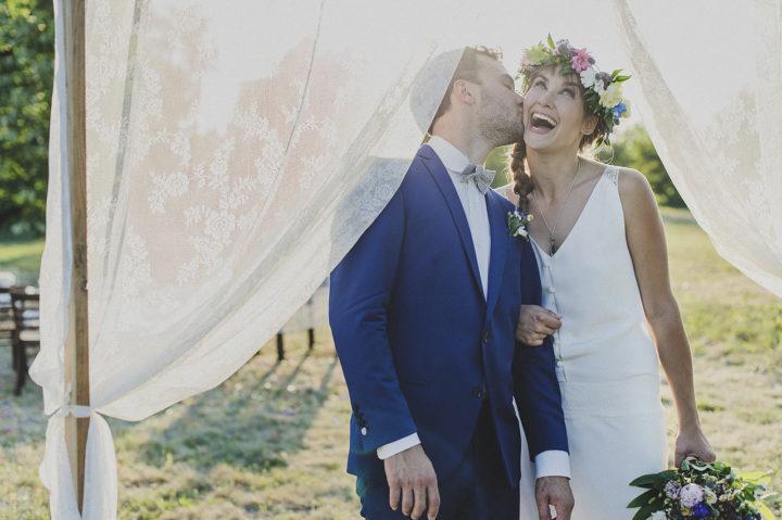 Robe de mariée dentelle et fluide-Claudia