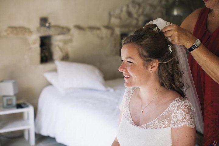 Robe de mariée dentelle et fluide - Clémence 2