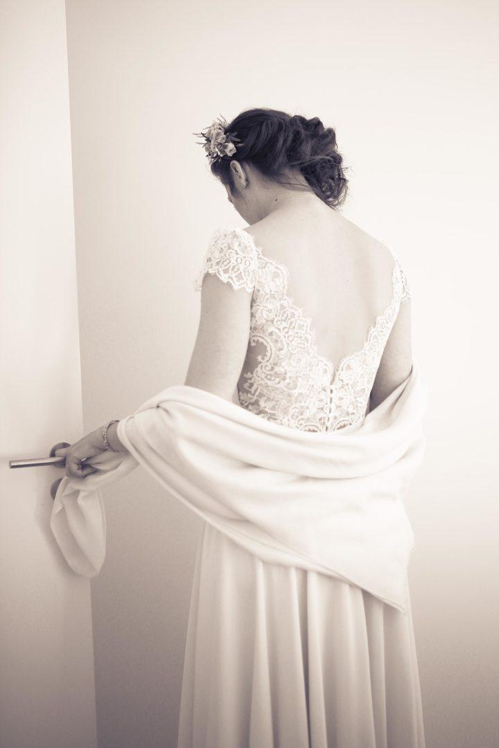 Robe de mariée fluide et dentelle - Perrine