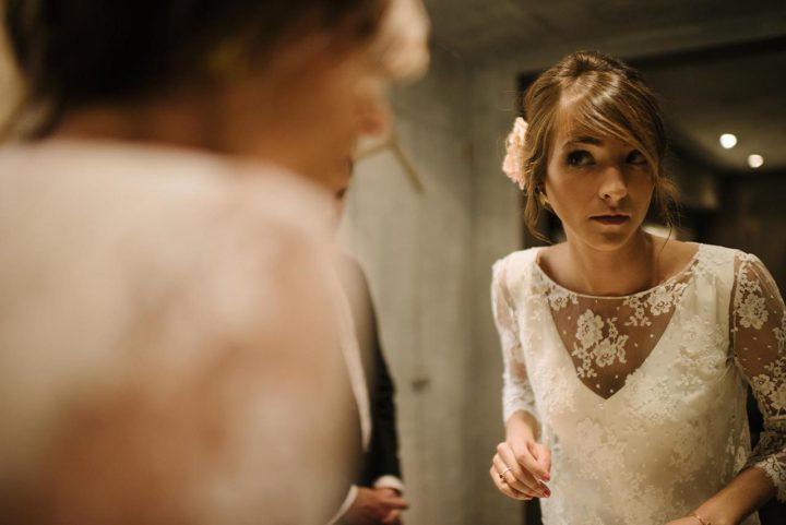 Robe de mariée fluide et dentelle - Aurélie 1
