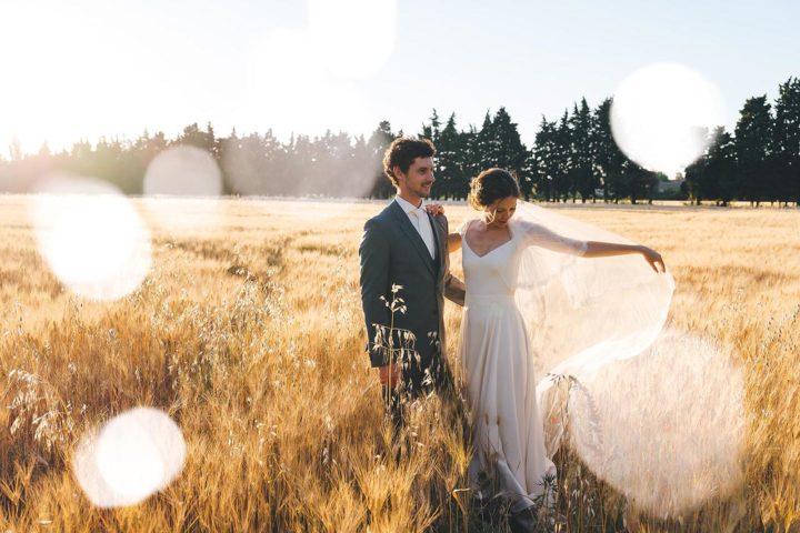 Robe de mariée dentelle et fluide - Marion