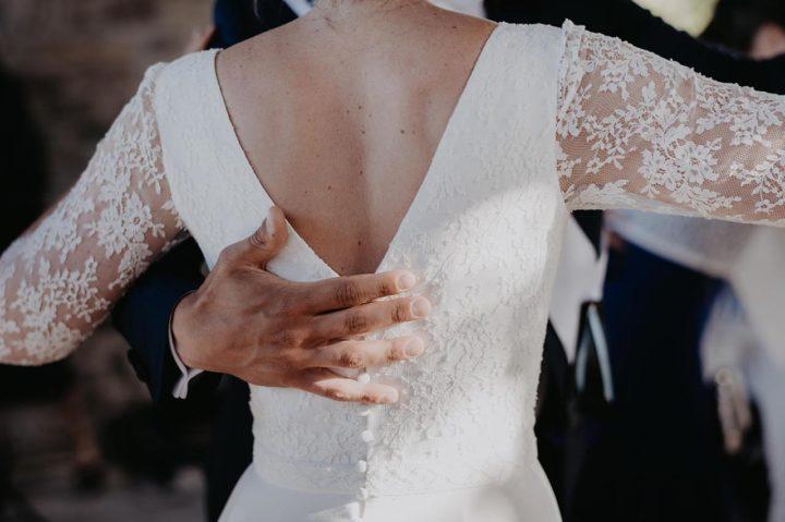 Robe de mariée dentelle et fluide - Agnès