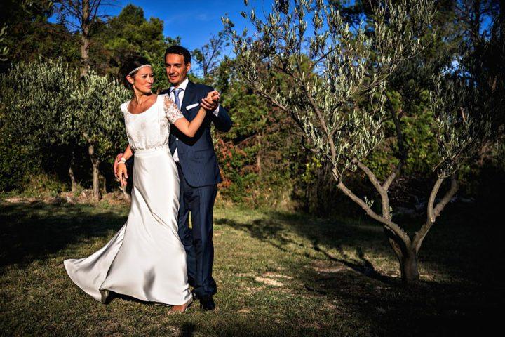 Robe de mariée dentelle et fluide - Tania2