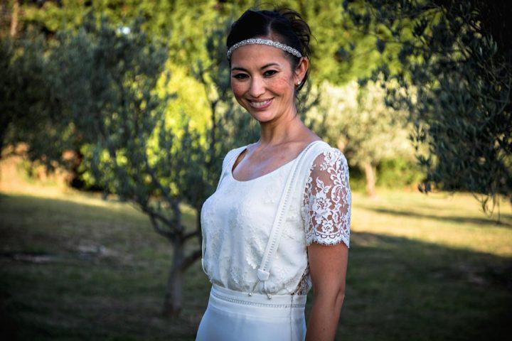 Robe de mariée dentelle et fluide - Tania3