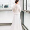 Veste longue de mariée sur mesure Paris