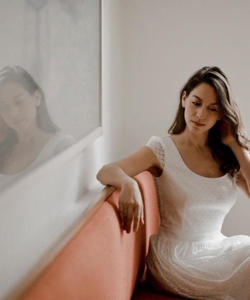 Petite créatrice parisienne robe de mariee haut de gamme Robe Amy Collection 2020
