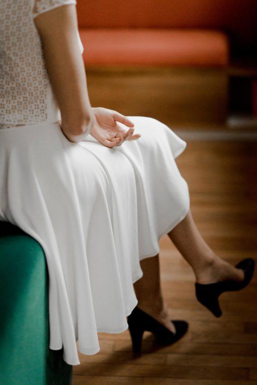 Creatrice robe de mariée civile paris Top Doriana & Jupe Lizzie collection civile 2020