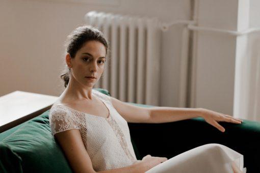 Robe de mariée civile semi-mesure Top Doriana & Jupe Lizzie collection civile 2020