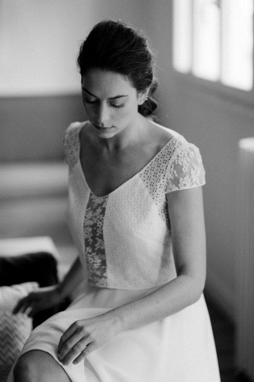 Robe de mariée civile romantique Top Doriana & Jupe Lizzie collection civile 2020