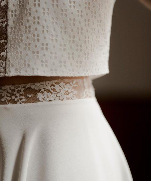 Robe de mariée semi-mesure paris Top Doriana & Jupe Lizzie collection civile 2020