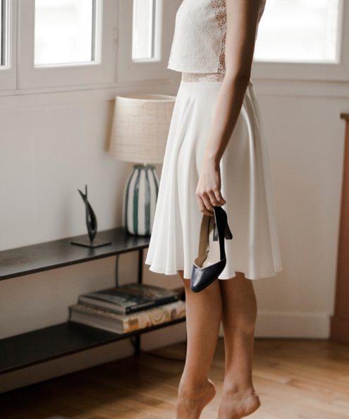 Robe de mariée moderne paris Top Doriana et Jupe Lizzie collection 2020
