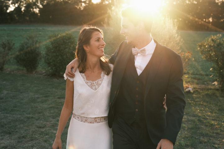 top et jupe ensemble mariage dentelle